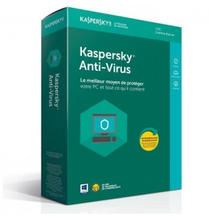 KASPERSKY Antivirus 2018 - 1 an - 1 PC