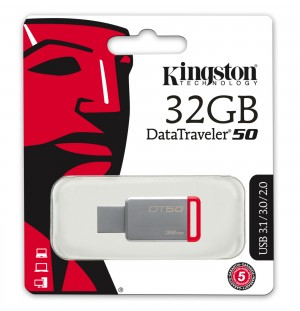 Clef USB KINGSTON DataTraveler 50 - 32 Go