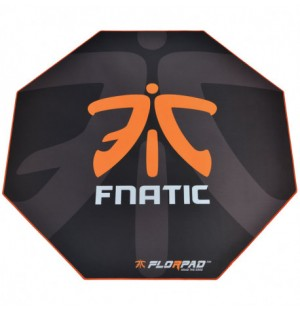 Tapis de sol Gamer FlorPad team Fnatic (Noir/Orange)