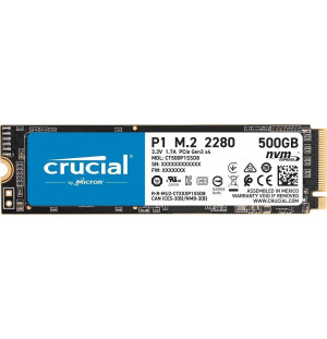 Crucial P1 500 Go - NVMe M.2 Type 2280
